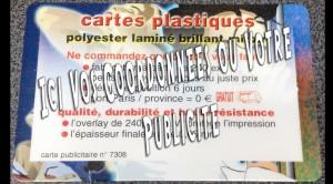 Carte Plastifiée
