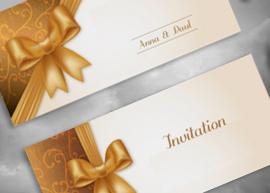 Les indémodables faire-part et cartons d'invitation